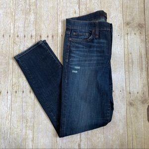 Joe's Jeans Skinny Distressed Mid-Wash Denim 28